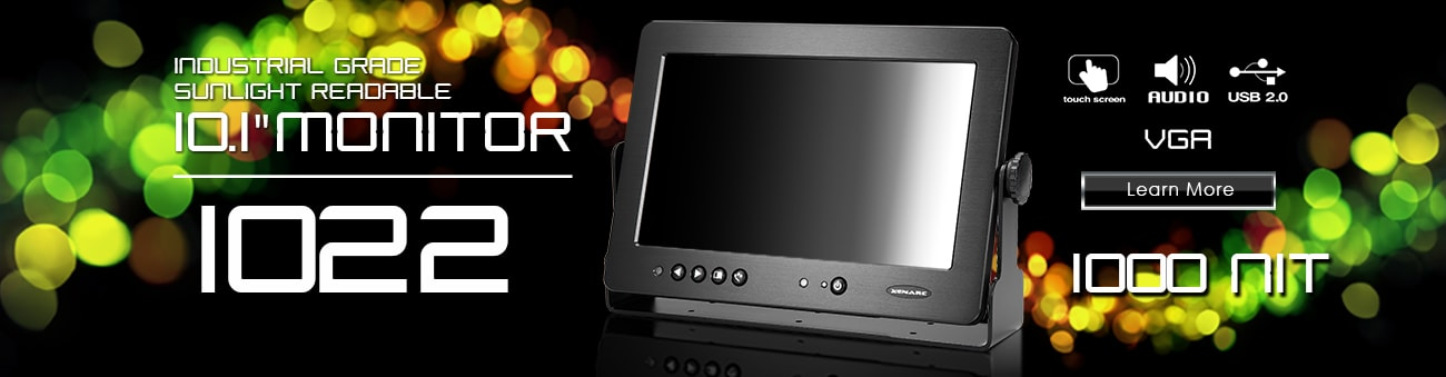 10 inch monitor, 10 inch touchscreen, small monitor, small touchscreen https://www.xenarc.com ruggedized solutions manufacturer for all industries  HDMI, VGA, DVI, SDI Video Inputs
