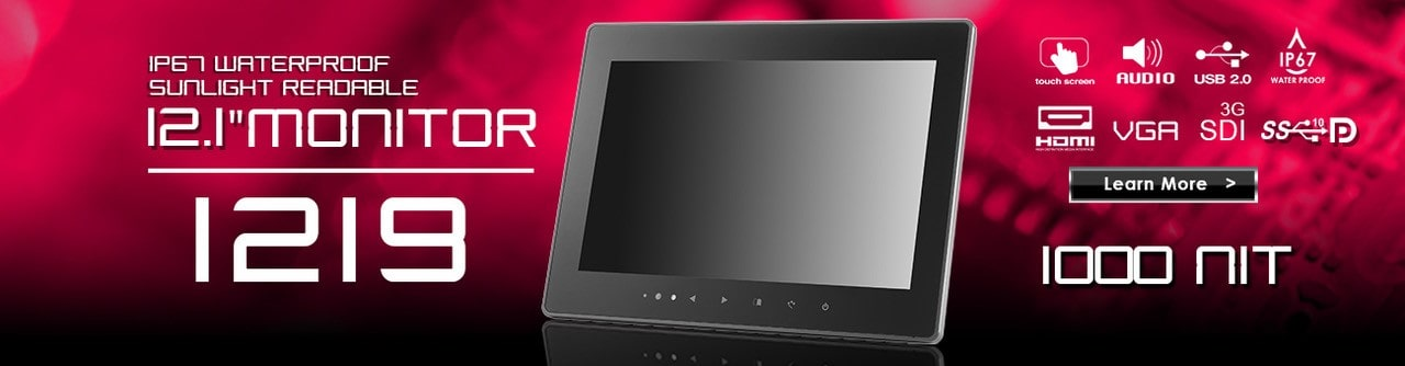 12 inch monitor, 12 inch touchscreen, small monitor, small touchscreen https://www.xenarc.com ruggedized solutions manufacturer for all industries  HDMI, VGA, DVI, SDI Video Inputs